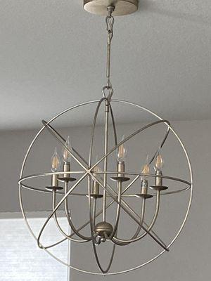 """Z Gallerie Eclipse 6 arm chandelier 22"""" for Sale in Tamarac, FL"""