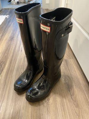 Hunter Rain Boots - women's size 7, black for Sale in Dallas, TX