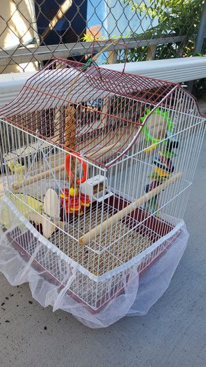 Bird cage and bird bath for Sale in Denver, CO