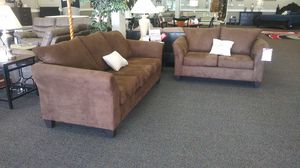 New Sienna Chocolate Sofa Set for Sale in West Columbia, SC