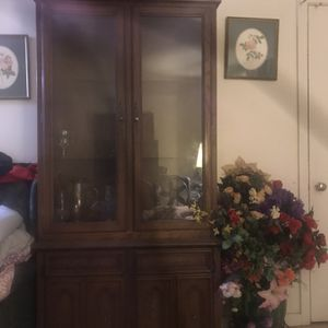 China Antique Cabinet Glass Door , also the Shelves As Well for Sale in Houston, TX