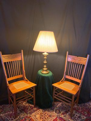 Antique chairs and a night lamp for Sale in Stone Mountain, GA