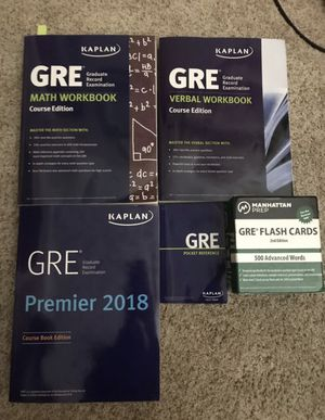 GRE general test prep package (Kaplan and Manhattan prep) for Sale in Corona, CA