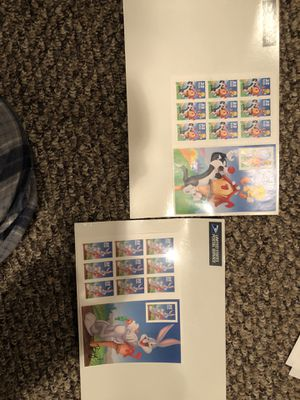 Tweety bird and Sylvester sheet of postage stamps for Sale in Perkasie, PA