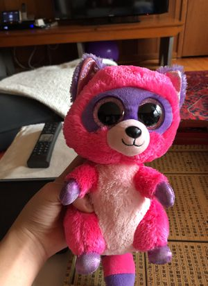 Beanie boo pink raccoon for Sale in Bethesda, MD