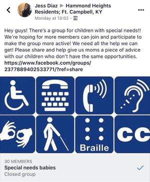 Special needs group for Sale in Fort Campbell, KY