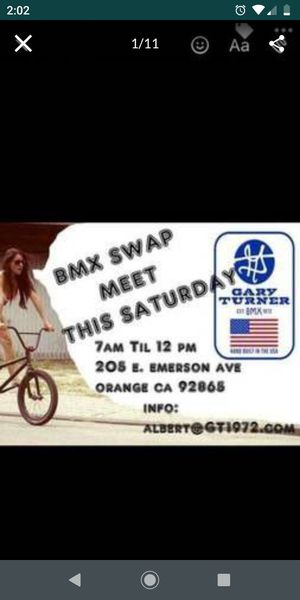 Oldschool monthly bmx Gary Turner swapmeet Feb 22 , Saturday 7am - 12pm rain or shine for Sale in La Mirada, CA