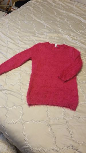 Women's hot pink fuzzy sweater S for Sale in Tampa, FL