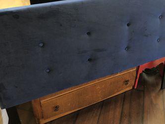 Queen Size Headboard ~ Blue Velvet *Like New* Must Go ASAP! for Sale in Orlando,  FL