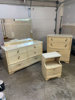 "1950's 3 piece ""Harmony House Furniture"" Seashell bedroom set for Sale in Tacoma, WA"