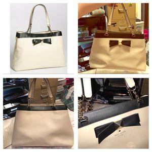 $458 Kate spade purse, doe / black tote bag for Sale in Jupiter Point, CT