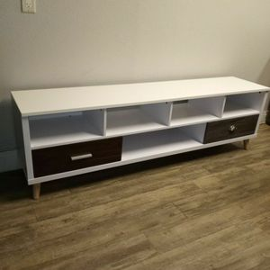 """72"""" White Tv Stand With 2 Drawers for Sale in Ontario, CA"""