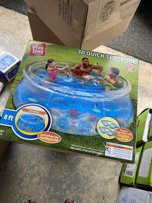 3D Quick Set Pool 8ft for Sale in Matawan, NJ