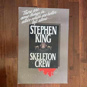 Skeleton Crew Advertising Poster Promoting Book By Stephen King for Sale in Union City, CA