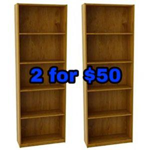 New bookshelves 2 for $50 for Sale in Dallas, TX