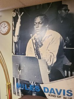 ANOTHER CRAZY WEEKEND SPECIAL PRICE TODAY 🤩 38.5 X 58.5 HARD POSTER BOARD PRINTED MILES DAVIS WALL ART TODAY for Sale in Decatur,  GA