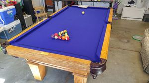 Olhausen Oak 8' pool Table W/ EVERYTHING for Sale in Los Altos, CA