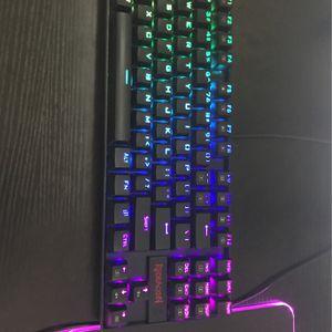 Redragon K552 Mechanical Gaming Keyboard 60% Compact 87 Key Kumara Wired Cherry MX Blue Switches RGB for Sale in Pleasanton, CA