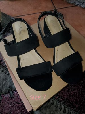 Black sandals with small heel 👠 for Sale in Compton, CA