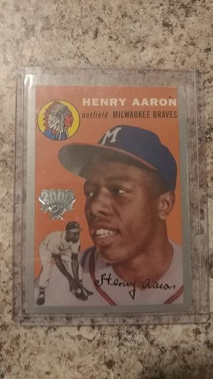 Henry (Hank) Aaron Baseball Card for Sale in Westerville, OH