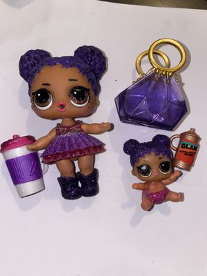 "Lol Dolls ""Purple Queen"" and lil sis for Sale in Portland, OR"
