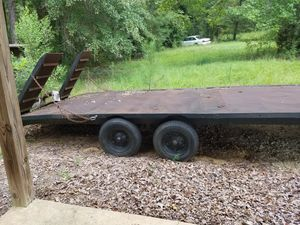 22ft gooseneck trailer with 5ft ramps for Sale in Valley Grande, AL