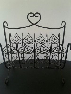 Cast iron magazine or book rack for Sale in Seffner, FL