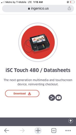iSC touch 480 for credit card sales for Sale in Victorville, CA