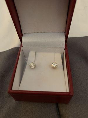 1 carat diamond earrings for Sale in Glendora, CA