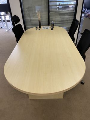 Oval Office Lounge Table - Oak Finish for Sale in Irvine, CA