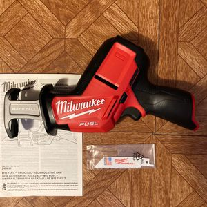 Milwaukee. M12 FUEL Lithium Ion Brushless Cordless HACKZALL Reciprocating Saw (Tool Only). 2520-20. for Sale in Brooklyn, NY