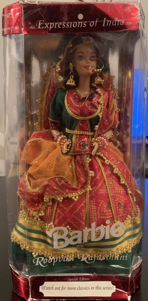 Expressions of India 1997 ROOPVATI RAJASTHANI BARBIE Mattel for Sale in Concord, CA