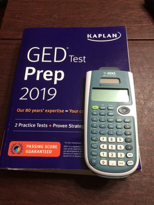 GED study guide and calculator. for Sale in Victoria, TX