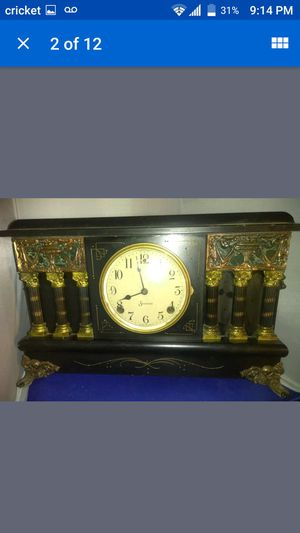 SCARCE 100 year old SESSIONS ARDMORE BLACK MANTEL CLOCK - WORKING ANTIQUE for Sale in Phoenix, AZ