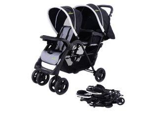 Safeplus foldable twin stroller - black for Sale in Fresno, CA