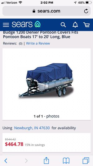 Budge Pontoon Boat Cover for Sale in Newburgh, IN