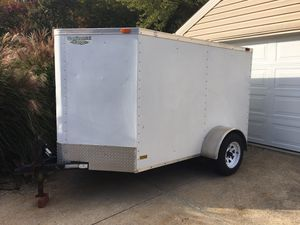 5x10 V-nose enclosed trailer with ramp and side man door for Sale in Independence, OH
