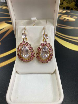 18k earrings Sapphires diamonds for Sale in Miami Gardens, FL