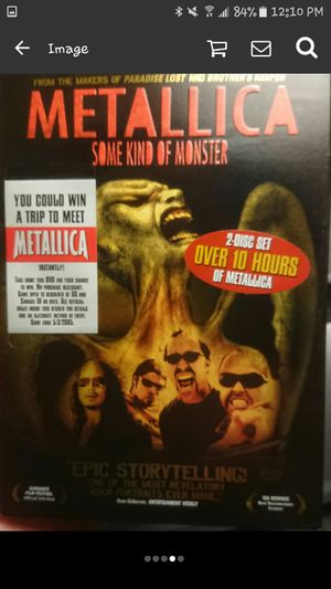 Metallica Some Kind Of Monster Dvd for Sale in Port Norris, NJ