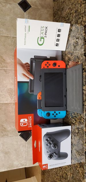 Nintendo Switch with Pro controller and extras (negotiable) for Sale in Fairfax, VA