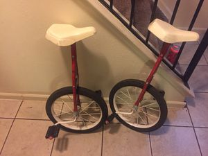 1960 Vintage unicycles (2) for Sale in Detroit, MI