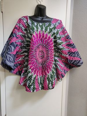 African Print studded poncho top for Sale in Santa Clarita, CA
