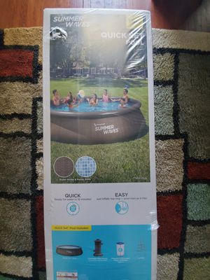 Pool 16ft x 42in quick set for Sale in Riverside, CA