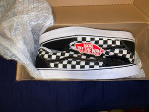 Black Checkered Vans for Sale in Springfield, MA