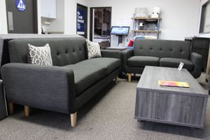 Sofa and Loveseat Set, Dark Grey for Sale in Downey, CA