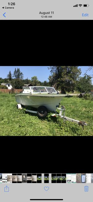Boat trailer and engine for Sale in Bellevue, WA