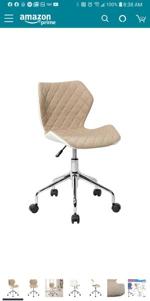 Techni Mobili Modern Height Adjustable Office Task Chair, Beige for Sale in Stockton, CA