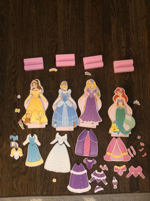Melissa and Doug Disney Princess Dress up Set (Belle, Cinderella, Ariel and Rapunzel) for Sale in Hermitage, TN