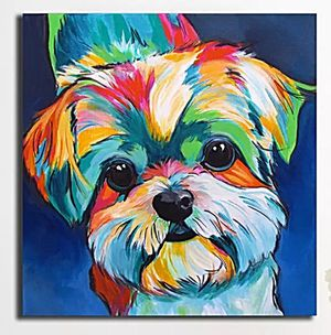 Beautiful Brand New Dog Art Canvas Print Painting for Sale in Kirkland, WA