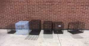 Several different size dog crates kennels folding 10-35$ Bloomingdale for Sale in Medinah, IL